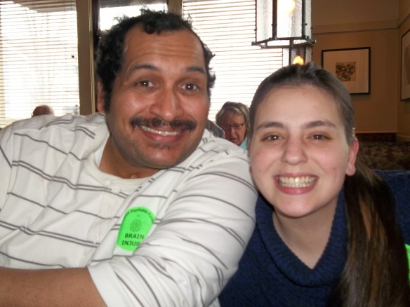 Zel and Emma at Olive Garden where we had lunch after meeting the Senator.  Zel says next time I hope we get to eat at Red Lobster!!!!!