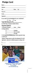 pledge card
