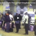 """VIDEO: Nigerians Deported From The United Kingdom Arrive In Lagos With """"Ghana-Must-Go"""" Bags"""