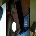 When Will They Learn? Lagos Girl Str!p While Browsing With Her Laptop [PHOTO]