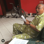 Photos: Jide Kosoko spotted during the rehearsals of a stage play