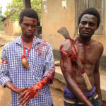 Remember the photo of a guy slashed with a cutlass & still posing for a photo? It's by a Nollywood Makeup Artist