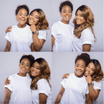 Beautiful photos of actress, Rachel Okonkwo and her young mum