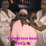 Still desperate for attention? Pretty Mike attends event in Lagos dressed in a pink bathrobe