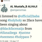 """All I did was help you  tufaced being"" Blackface blasts Tuface Idibia, calls him a lazy artist and accuses him of sabotage"