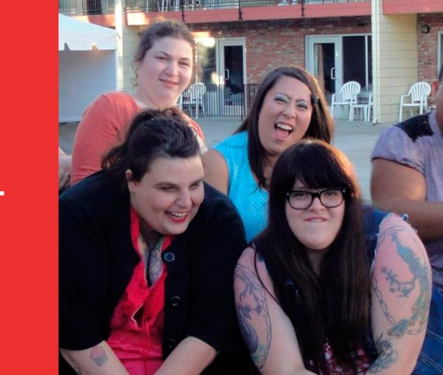 Photo Of Five Laughing Irreverent Fat Queers Making Faces