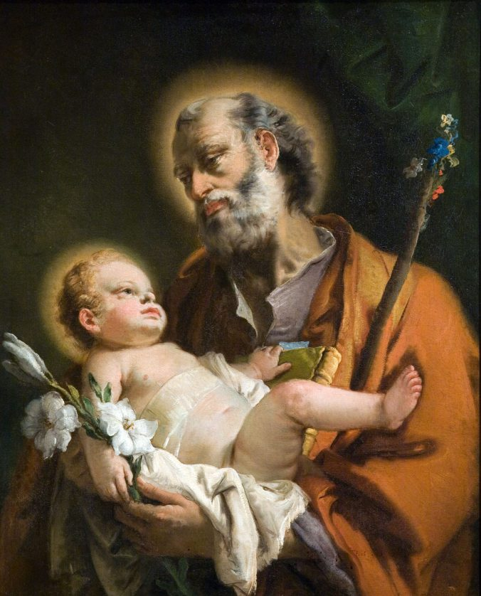 Object Lesson: St. Joseph and the Christ Child by Giovanni Domenico Tiepolo    New Orleans Museum of Art