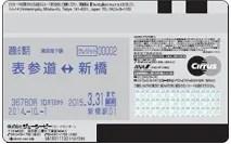 ソラチカカードの裏面にPASMO定期が印字される