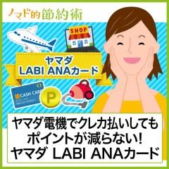 ヤマダ電機でお得!ヤマダLABI ANAマイレージクラブカード セゾン・アメリカン・エキスプレス・カードのお得な使い方とメリットデメリットまとめ