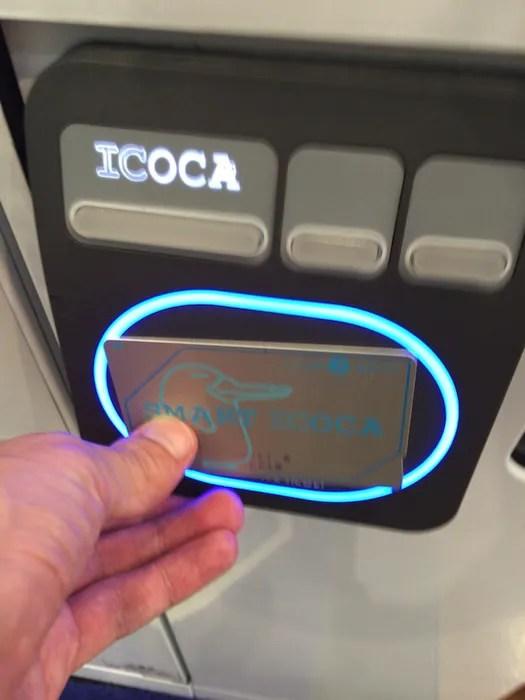 QBハウスの券売機 ICOCA決済