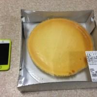 コストコのスフレチーズケーキ(サイズ)