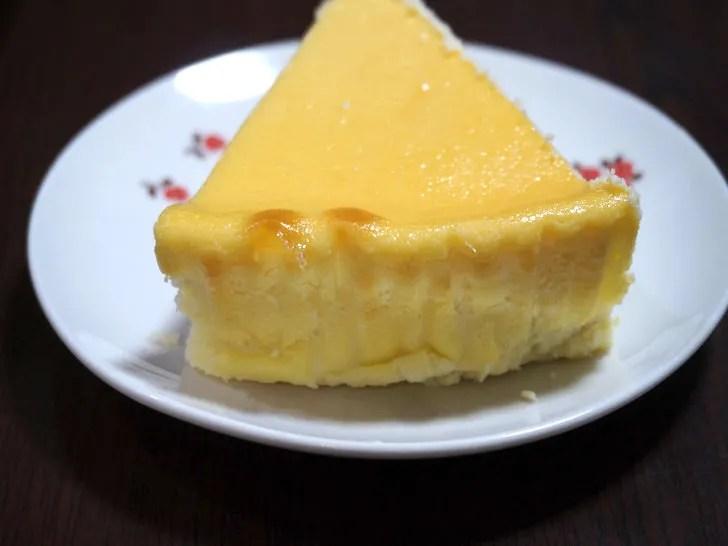 コストコのスフレチーズケーキ(背面)