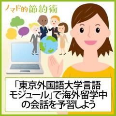 27言語対応の「東京外国語大学言語モジュール」で海外留学中の会話を予習しよう