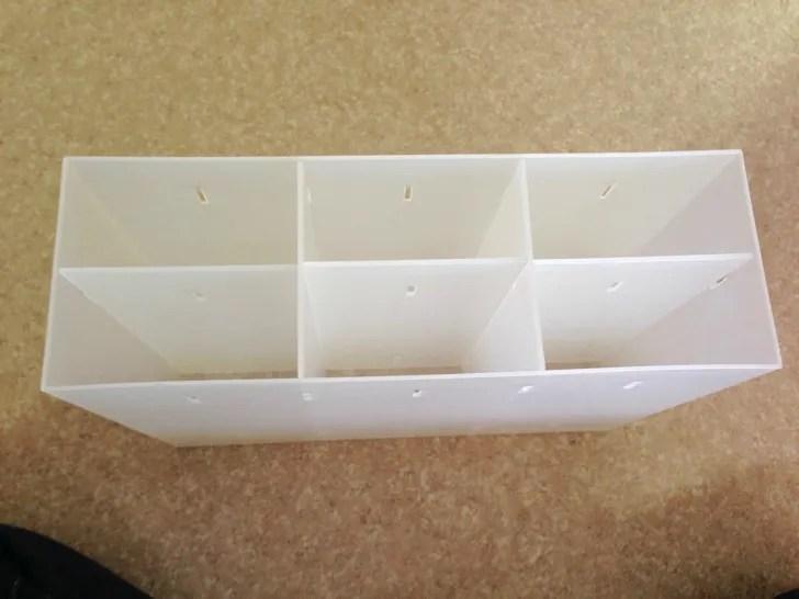 無印良品のポリプロピレン小物収納ボックス6段は縦でも横でも使える