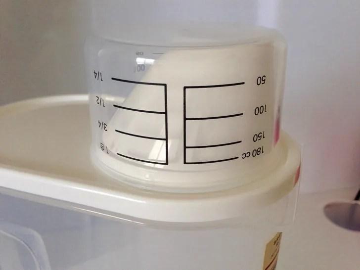 無印良品の米保存容器