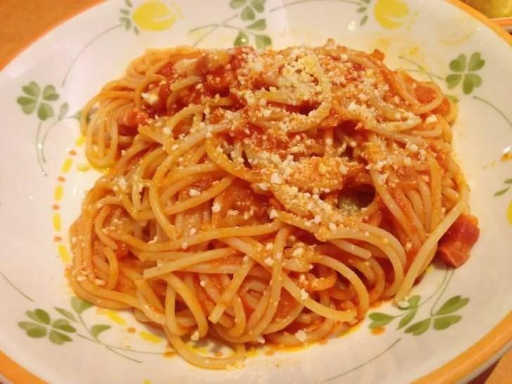 サイゼリヤのパルマ風スパゲッティ