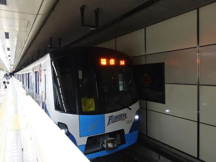 札幌へ向かう地下鉄