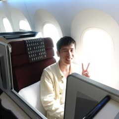 JAL国際線ビジネスクラス搭乗記をブログ記事でレポート。座席・食事・ラウンジの感想も