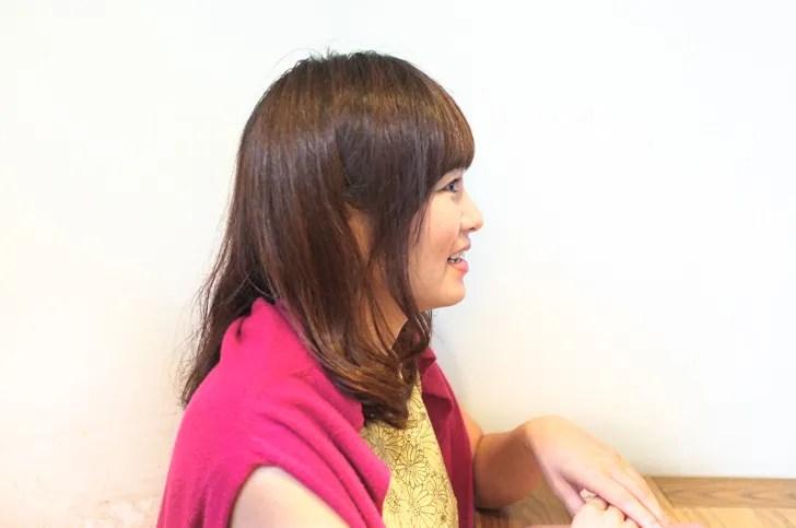 小林さん横顔