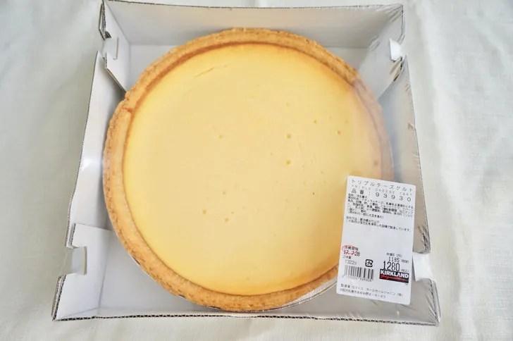 コストコのトリプルチーズタルト(パッケージ)