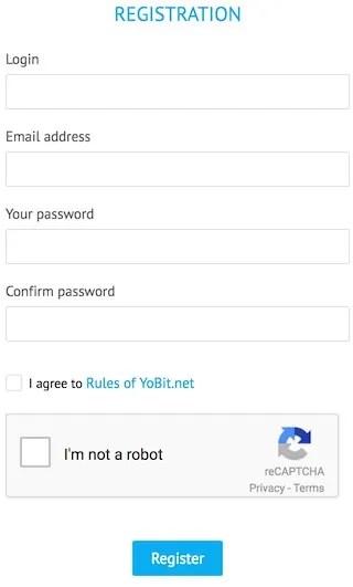 Yobitの会員登録手順