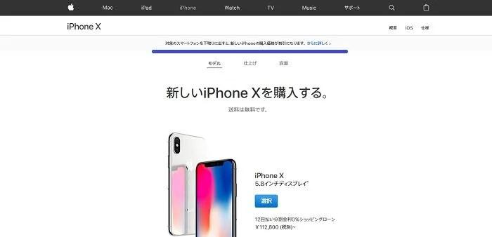 apple初売りiPhoneX