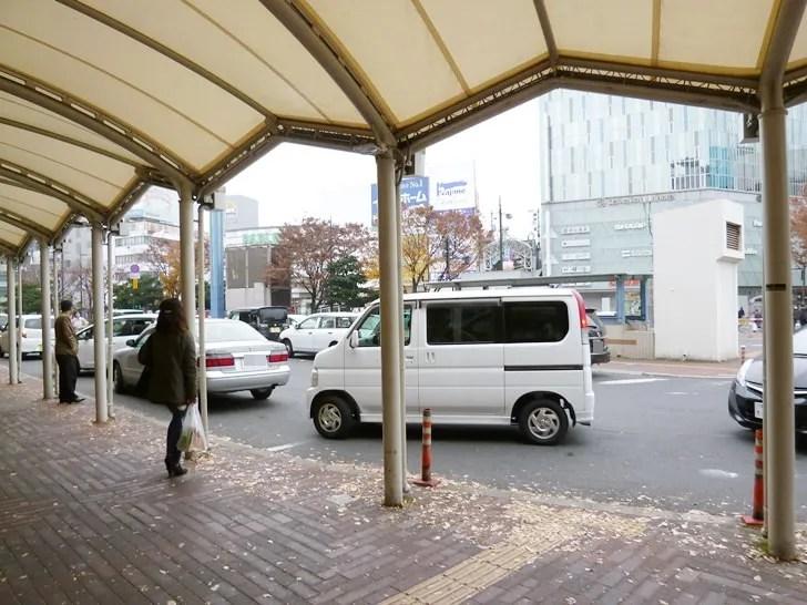 【岡山駅から倉敷駅】東口一般車ロータリー