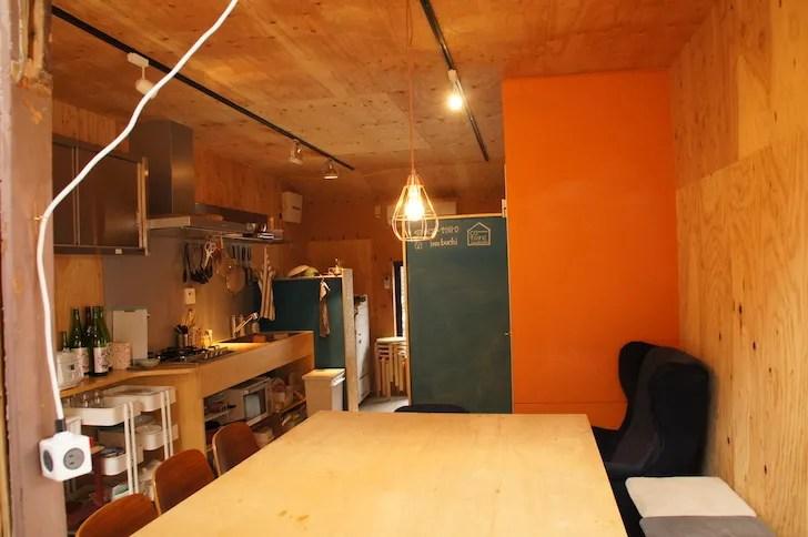 ▲1階のシェアキッチン