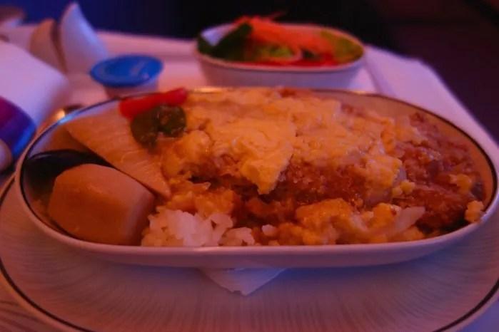 タイ航空ビジネスクラスA380 機内食