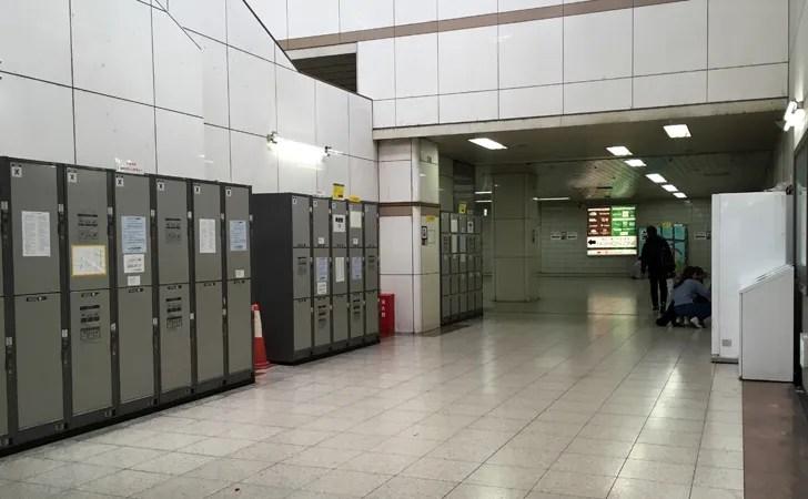 JR名古屋駅コインロッカーエスカのコインロッカー
