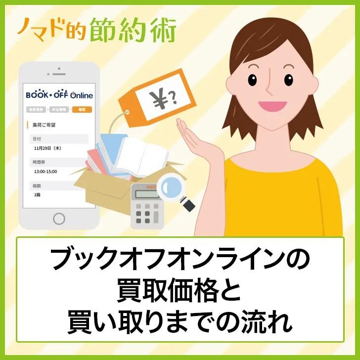 ブックオフオンラインの買取価格と買取までの流れ