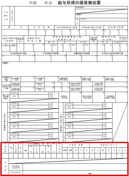 【源泉徴収票の見方】源泉徴収票