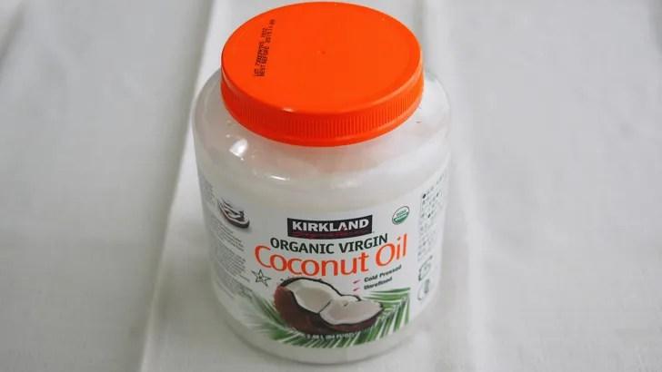 コストコのオーガニックココナッツオイル(容器)
