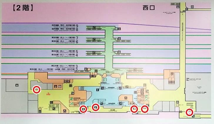 盛岡駅案内図2階