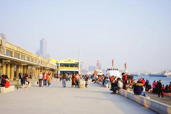港町の台湾・高雄の風景