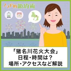 2020猪名川花火大会の日程・時間はいつ?見れる場所や最寄駅からのアクセス・有料席の有無についても解説