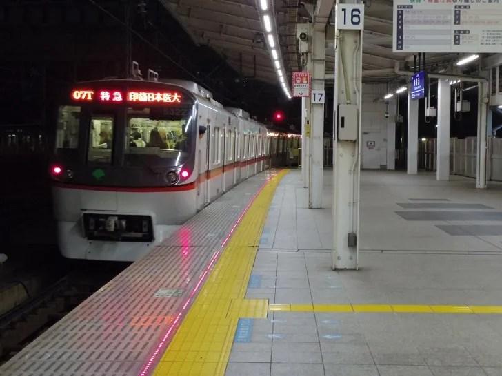 金沢八景からは特急でここまで乗り換えなし!