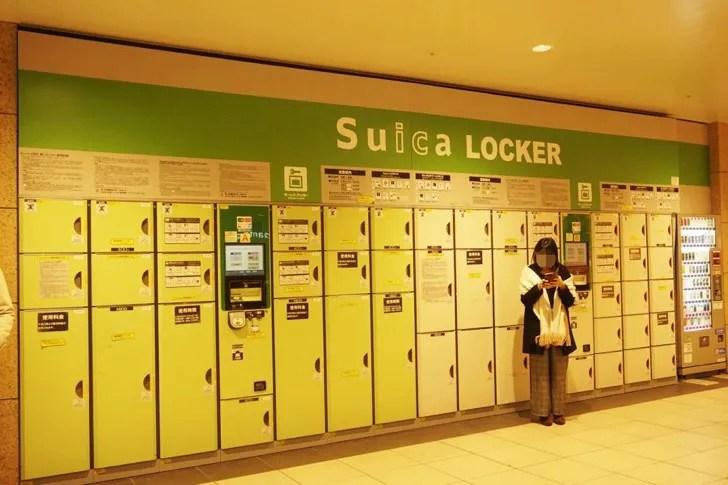 仙台駅コインロッカー 2階西口交番前