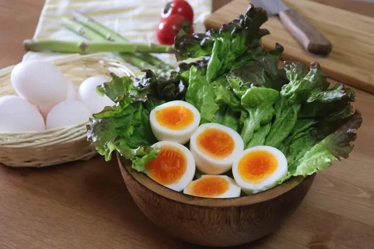 ゆで卵の作り方の写真