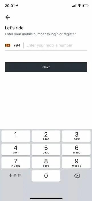スリランカ配車アプリPickMeイメージ