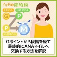 Gポイントから段階を経て最終的にANAマイルへ交換する方法を解説