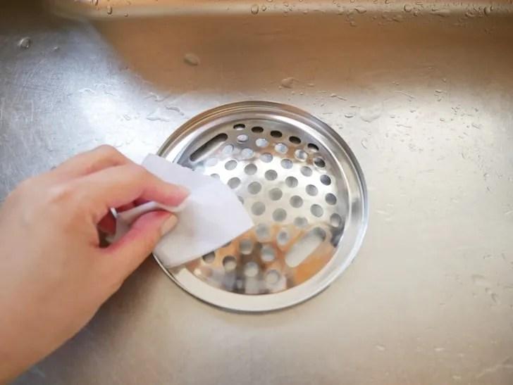 台所排水溝そうじ手順写真