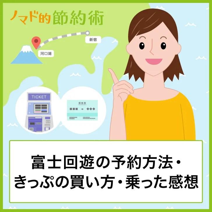 富士回遊の予約方法・きっぷの買い方・乗った感想