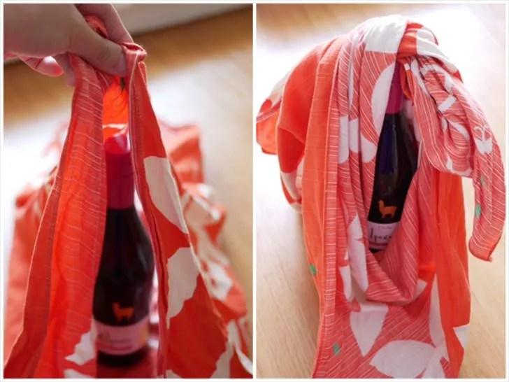 ワイン包みの手順2