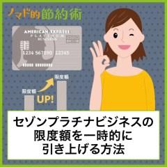 【体験談】セゾンプラチナビジネスアメックスの限度額を上げてもらう方法。一時的に900万円に引き上げた話