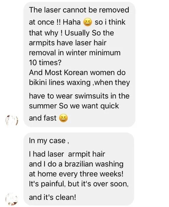 VIO脱毛事情 韓国