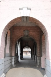 bricks were used to cool the structure