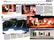 Sets for 'the Mousetrap' which I designed while also playing the lead, among other plays where I acted.