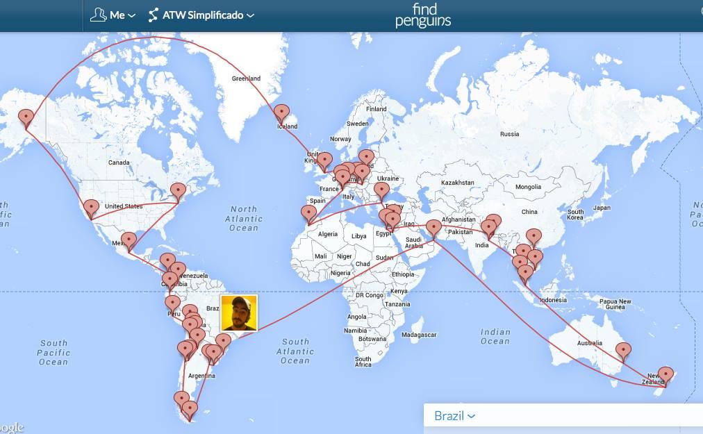 Volta ao mundo de Pedro - 52 países em 18 meses