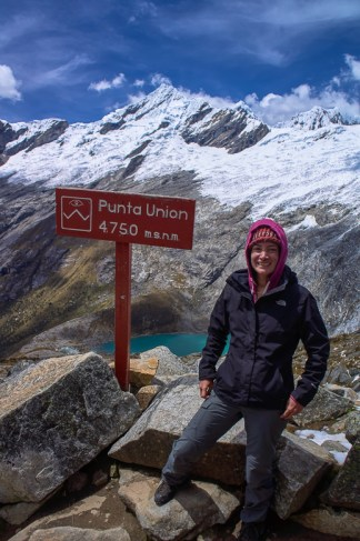 Me at Punta Union on the Santa Cruz trek in Peru